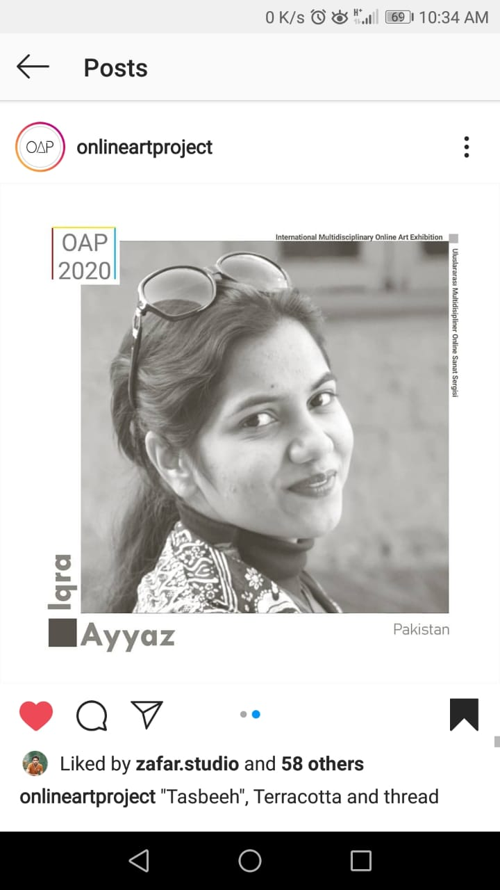 Ms. Iqra Ayyaz Work at International Art Exhibition!
